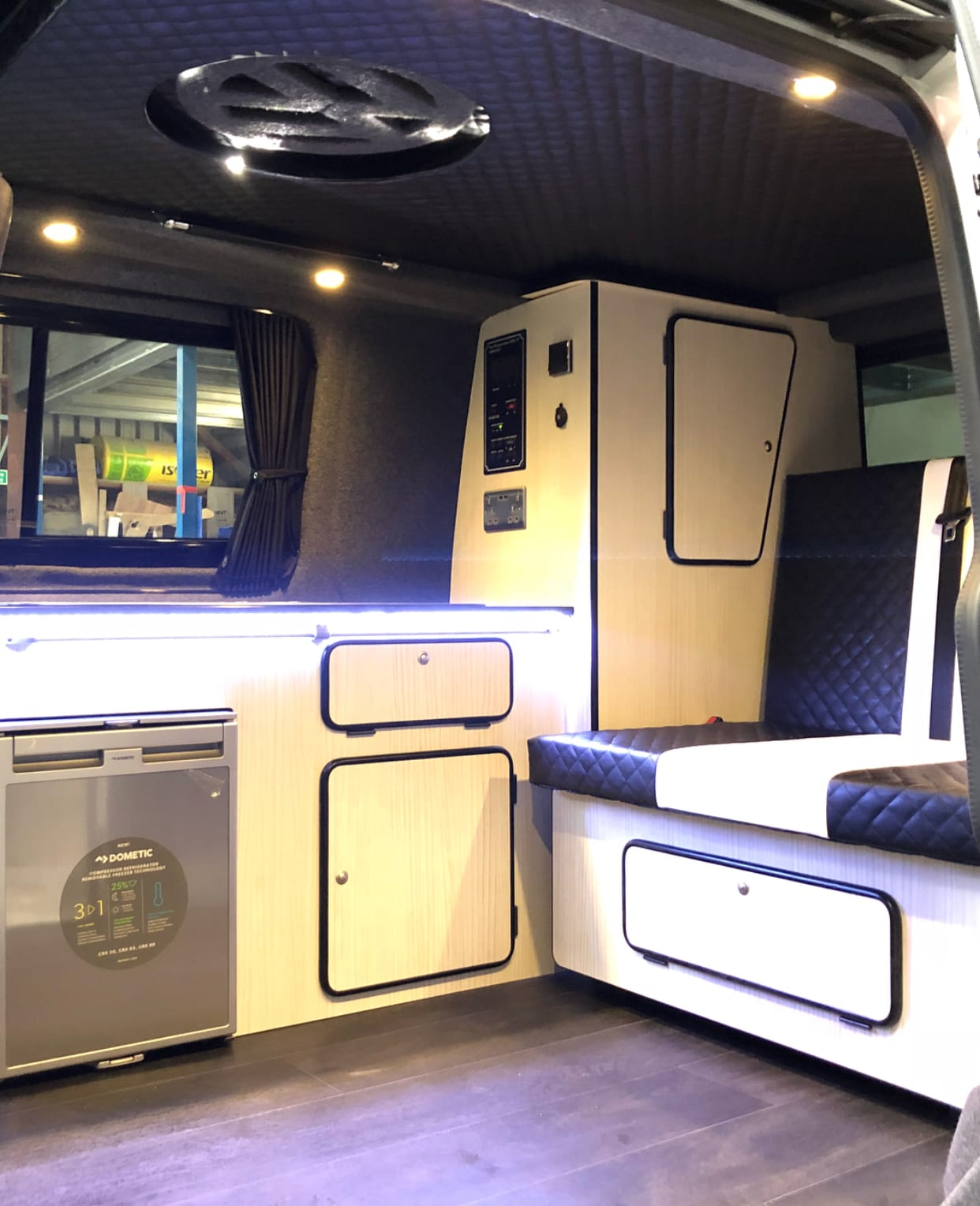 Campervan conversion with optional extra Spot Lights